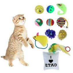 10/14pcs Pet Cat Toys Small Mouse Toy Ball Toys with Bells f