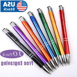 10 Custom engraving Sleeker pens. Name-logo pens. Personaliz