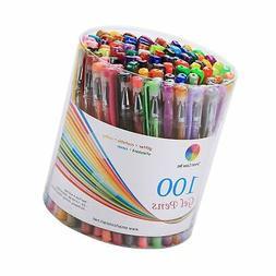 Smart Color Art 100 Colors Gel Pens Set for Adult Coloring B