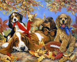1000 Pcs Jigsaw Cute Pet Dogs Adults Kids 69 * 51CM Puzzle E