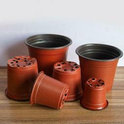 100Pcs Plastic Plants Nursery Pot/Pots Seedlings Flower Plan
