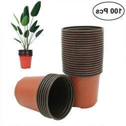 10PCS Plastic Plant Flower Pots Nursery Seedlings Container
