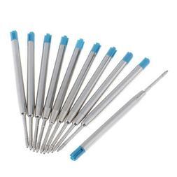10x Quick Flow Ball Point Pen Refill Ballpen Blue Fine Brand