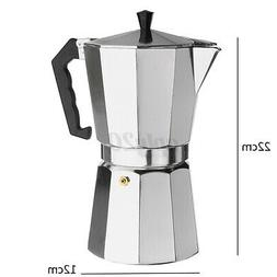 12 Cups 600ML 22x12cm Coffee Percolator Moka Pot Stove-Top E
