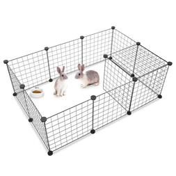 12 X Metal Panels Dog Cage Playpen Crate Fence Pet Play Pen