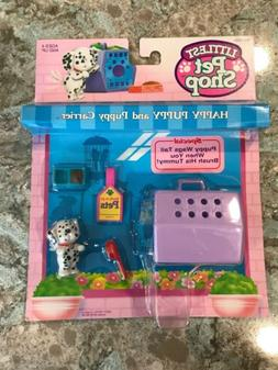 Kenner 1992 Littlest Pet Shop Happy Puppy With Puppy Carrier