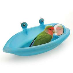 1pc Bird Water Bath Tub for Pet Bird Cage Hanging Bowl Parro