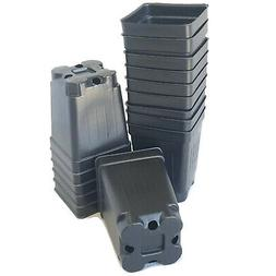 "2.5 inch SQUARE BLACK NURSERY POTS  - SET OF 250 - {2.6"" x 3"