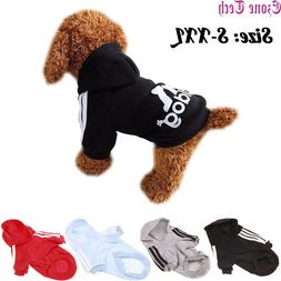 2 Leg Pet Dog Clothes Hoodie Winter Warm Sweatshirt Cat Pupp