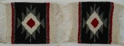 """2 matching Zapotec rugs 100% Wool hand made 5"""" X 5"""" for figu"""