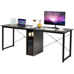 "2 Person Computer Desk 79"" Large Double Workstation Dual Off"