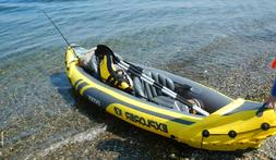 "2 Person Kayak Inflatable Puncture Resistant 86"" Aluminum Oa"