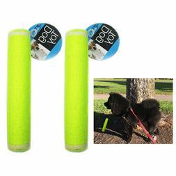 2 pet dog puppy tennis ball stick