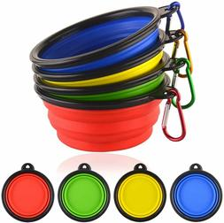 2 portable travel collapsible pet dog food