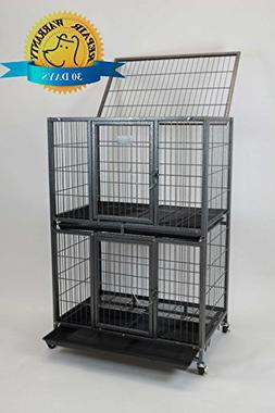 "New 31"" Homey Pet 2 Tiers Heavy Duty Dog Pet Rabbit Cat Cage"