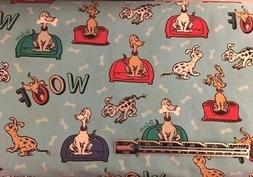 2015 Dr Seuss What Pet Should I Get? Book DOGS Blue Cotton Q