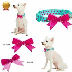 2019 4 Patterns Adjustable Flocking Dog Collar W Detachable