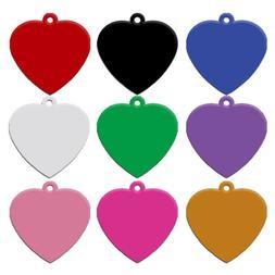 20pcs/lot Aluminum Dog ID Tags Heart Shape No Engraving Coll