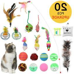 20Pcs Pet Cat Toys Set Bulk Mice Balls Pet Kitty Kitten Play