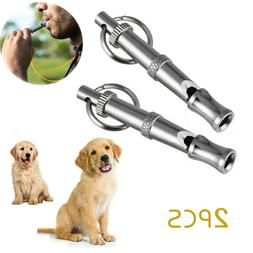 2PCS Pet Dog Whistle Puppy Training Adjustable Pitch