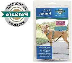 PetSafe 3 In 1 Harness No-Pull Walking Solution, X-Small