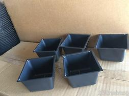 3 IN BLACK PLASTIC FLOWER NURSERY PLANT POTS