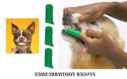 3 PET DOG CAT Finger Pro DENTAL Teeth RUBBER TOOTH BRUSH ORA