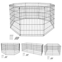 30 Inch 8 Panels Tall Dog Playpen Large Crate Fence Pet Play