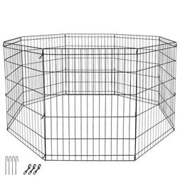 """30"""" Pet Dog Playpen Exercise Fence Cage Kennel  8 Panel Outd"""