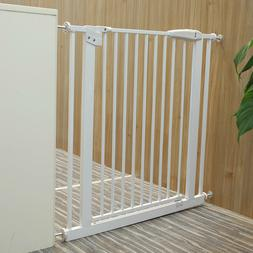 """31""""H Pet Gates Fence Metal Baby Safety bar with open-able"""