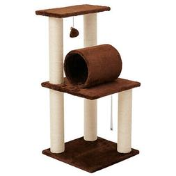 """33"""" Pet Cat Condo Tree Play Tower Bed Furniture Scratching"""