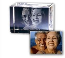 3d Laser Etched Engraving Custom Crystal Glass Photo Frame -