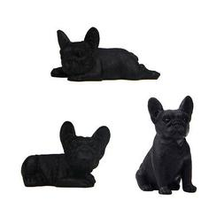 3pcs French Bulldog Puppy Mini Dog Statue Resin Figurine Han