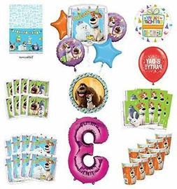 Secret Life of Pets 3rd Birthday Party Supplies 8 Guest kit