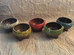 """4"""" Mini Ceramic Succulent Plant Pots Cactus Planter Pots Wit"""