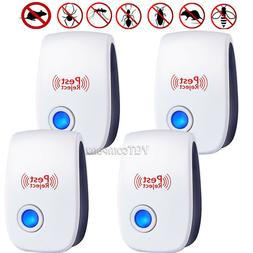 4-Pack Ultrasonic Electronic Pet Repeller Reject Anti Mosqui
