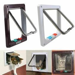 4 Way Pet Cat Puppy Dog Magnetic Lock Lockable Safe Flap Doo