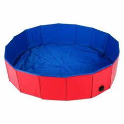 47'' Dog Pet Swimming Pool Collapsible PVC Pet Pool Kiddie B