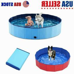 "48""63"" Foldable Pet Swimming Pool Dog Bath Pool Collapsible"
