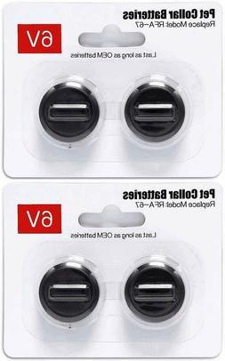 4Pack 6V Pet Dog Collar Batteries for PetSafe RFA-67 Replace