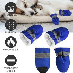 4PCS Mesh Pet Dog Boots Breathable Puppy Shoes Anti-slip Pro