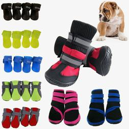 4Pcs Non-slip Puppy Pet Dog Shoes Waterproof Boots Booties S