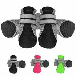 Dog Boots 4pcs/set Paw Protector Dog Shoes With Adjustable S