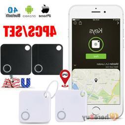 4x GPS Tracker Anti-Lost Bluetooth For Pet Dog Cat Keys Wall