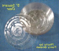 "5""  Vinyl Plastic Pot Saucers for House Plants , 4-1/4"" at B"