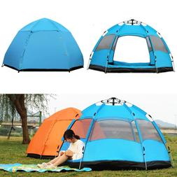5-8 Person Large Instant Pop Up Dome Family Camping Tent Wat