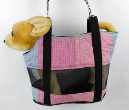 ASSORTED SEE-THROUGH Pet Carrier with Adjustable Strap