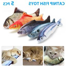 5 pack realistic interactive fish cat kicker
