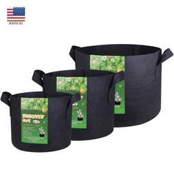 VIVOSUN 5PC Fabric Plant Pot Grow Hanging Planter Bag w/ Han