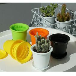 5 Pcs Plastic Nursery Pot Seedlings Flower Plant Container G